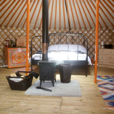 Inside Furzeclose yurt