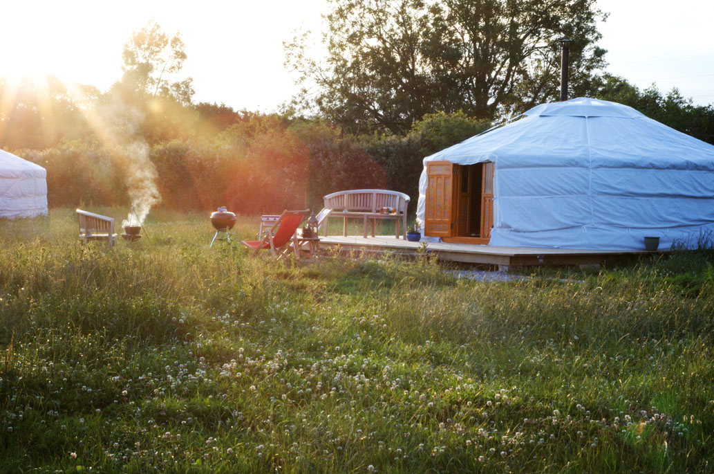 Glamping at Somerset Yurts